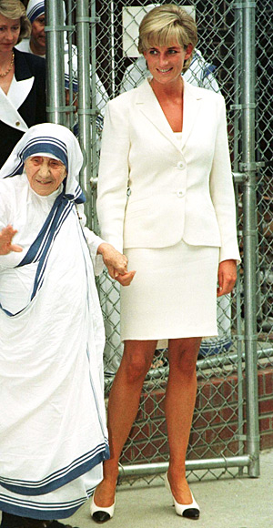 diana + mother teresa