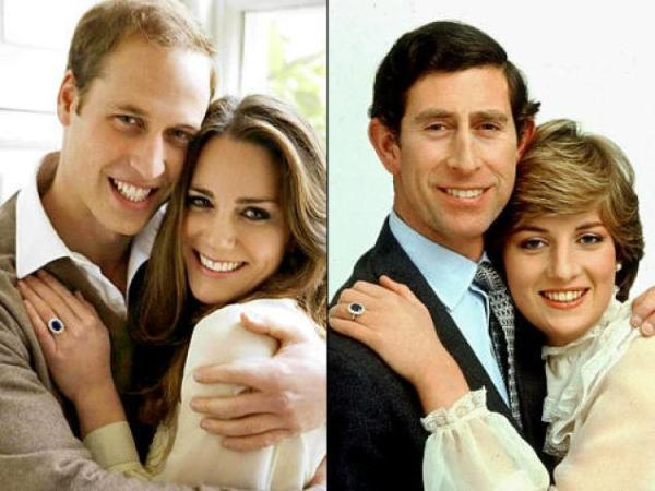 will + kate + charles + diana